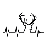 Heartbeat Hunting Die Cut Vinyl Decal PV2378