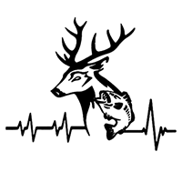 Heartbeat Hunting Fishing Die Cut Vinyl Decal PV2364