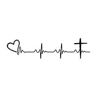 Heartbeat Love Faith Die Cut Vinyl Decal PV2376