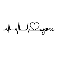 Heartbeat Love you Die Cut Vinyl Decal PV2381