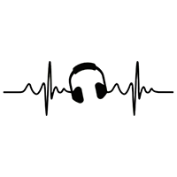 Heartbeat Music Die Cut Vinyl Decal PV2379
