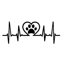 Heartbeat Pet Die Cut Vinyl Decal PV2362