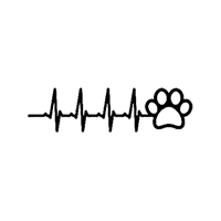 Heartbeat Pet Die Cut Vinyl Decal PV2365