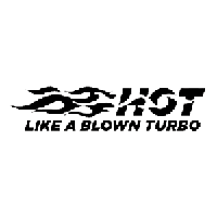 Hot Like a Blown Turbo Die Cut Vinyl Decal PV437