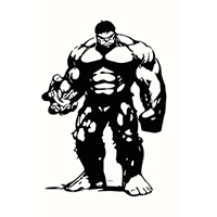 Hulk Die Cut Vinyl Decal PV1947