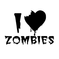 I love Zombies Die Cut Vinyl Decal PV2344