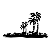 Island Die Cut Vinyl Decal PV2109
