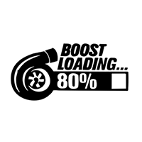 JDM Boost Loading Die Cut Vinyl Decal PV2286