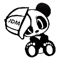 JDM Panda Die Cut Vinyl Decal PV732