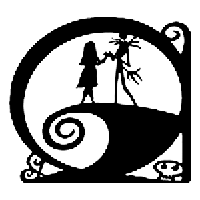 Jack n Sally Die Cut Vinyl Decal PV1150