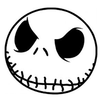 Jack Skellington Head Die Cut Vinyl Decal PV239