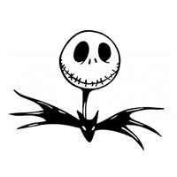 Jack Skellington Head Die Cut Vinyl Decal PV240