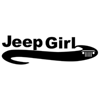 Jeep Girl Die Cut Vinyl Decal PV2162