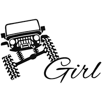 Jeep Girl Die Cut Vinyl Decal PV2357