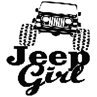 Jeep Girl Die Cut Vinyl Decal PV514