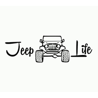 Jeep Life Die Cut Vinyl Decal PV2350