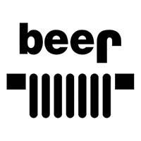 Jeep YJ Beer Square headlights Die Cut Vinyl Decal PV1983