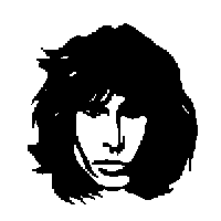 Jim Morrison Die Cut Vinyl Decal PV557