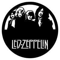 Led Zepplin Die Cut Vinyl Decal PV2394