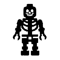 Lego Skeleton Die Cut Vinyl Decal PV722