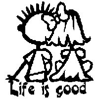 Life is Good Die Cut Vinyl Decal PV1319