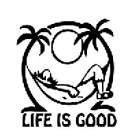 Life is Good Die Cut Vinyl Decal PV2237
