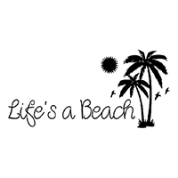 Life's a Beach Die Cut Vinyl Decal PV264