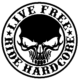 Live Free Ride Hardcore Die Cut Vinyl Decal PV1305