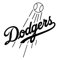 Dodgers LA Die Cut Vinyl Decal PV163