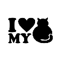 Love My Cat Die Cut Vinyl Decal PV524