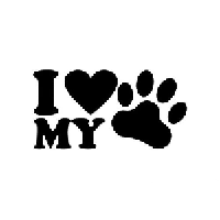 Love My Pet Die Cut Vinyl Decal PV543