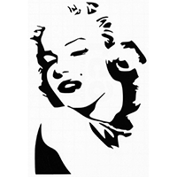 Marilyn Monroe Die Cut Vinyl Decal PV345