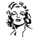 Marilyn Monroe Die Cut Vinyl Decal PV201