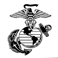 Marines Die Cut Vinyl Decal PV1939