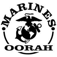 Marines Oorah Die Cut Vinyl Decal PV222