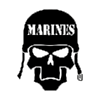 Marines Skull Die Cut Vinyl Decal PV961