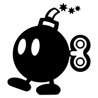 Mario Bomb with Fizz Die Cut Vinyl Decal PV2000