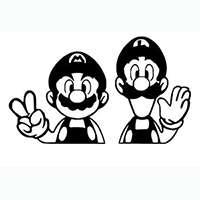 Mario Bros Die Cut Vinyl Decal PV306