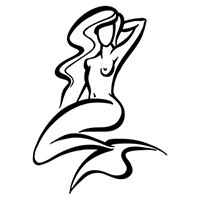 Mermaid Die Cut Vinyl Decal PV2034