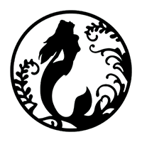 Mermaid Die Cut Vinyl Decal PV2360
