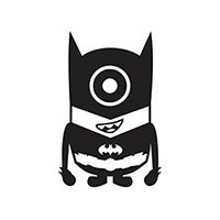 Despicable Me Minion Batman Die Cut Vinyl Decal PV146