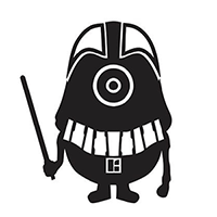 Minion Darth Vader Die Cut Vinyl Decal PV105