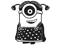 Despicable Me Minion Die Cut Vinyl Decal PV155