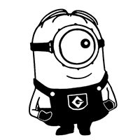 Despicable Me Minion Die Cut Vinyl Decal PV154