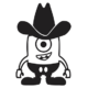 Despicable Me Minion Cowboy Die Cut Vinyl Decal PV147