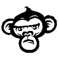 Monkey Die Cut Vinyl Decal PV1108