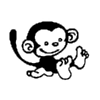 Monkey Die Cut Vinyl Decal PV802