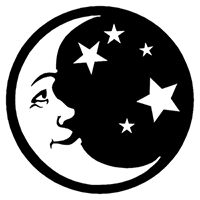 Moon and Stars Die Cut Vinyl Decal PV2397