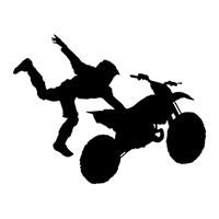 Motocross Die Cut Vinyl Decal PV1893