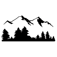 Mountains Die Cut Vinyl Decal PV2307